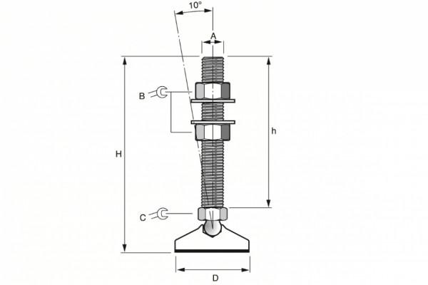 Abb. 2 (MF LL10, M12 Fzb Dia 32 mm M12x75)